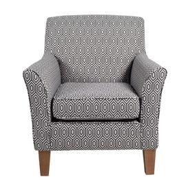 Argos Home Soren Fabric Accent Chair - Charcoal Best Price, Cheapest Prices