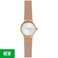 Skagen Rose Gold Coloured Ladies Stainless Steel Watch Best Price, Cheapest Prices