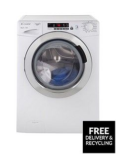 Candy Grand'O Vita Gvs1410Dc3 10Kg Load, 1400 Spin Washing Machine With Smart Touch - White/Chrome Best Price, Cheapest Prices