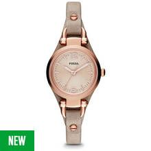 Fossil Georgia Ladies' ES3262 Rose Gold/Sand Leather Watch Best Price, Cheapest Prices