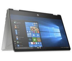 "HP Pavilion x360 14-dh0500sa 14"" Intel® Pentium® Gold 2 in 1 Laptop - 128 GB SSD, Silver Best Price, Cheapest Prices"