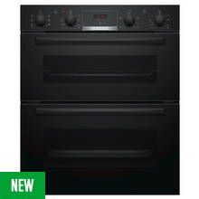 Bosch NBS533BB0B 59.4cm Double Oven Electric Cooker - Black