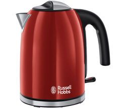 RUSSELL HOBBS Colour Plus 20412 Jug Kettle - Red Best Price, Cheapest Prices