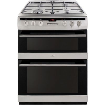 Amica AFG6450SS 60cm Gas Cooker with Full Width Gas Grill - Stainless Steel - A/A Rated Best Price, Cheapest Prices