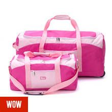Go Explore XL Wheeled Holdall and Small Handheld Bag - Pink