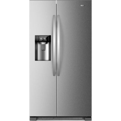 Haier HRF-630IM7 American Fridge Freezer - Stainless Steel Effect - A++ Rated Best Price, Cheapest Prices
