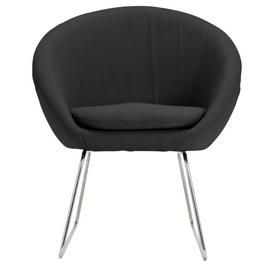 Argos Home Fabric Pod Chair - Charcoal Best Price, Cheapest Prices