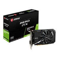 MSI GeForce GTX 1650 AERO ITX OC 4GB GDDR5 Graphics Card, 896 Core, 1485MHz GPU, 1740MHz Boost Best Price, Cheapest Prices