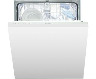 Indesit Eco Time DIF04B1 Fully Integrated Standard Dishwasher - White Control Panel with Fixed Door Fixing Kit - A+ Rated Best Price, Cheapest Prices
