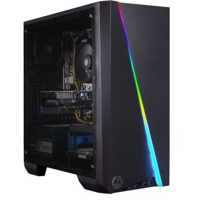 3XS Cyclone 1650 RGB Gaming Tower - Black Best Price, Cheapest Prices