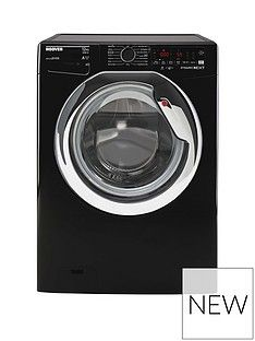 Hoover DWOA412AHC8B-80 12kg Load, 1400 rpm, WIFI Washing Machine - Black with Chrome Door Best Price, Cheapest Prices