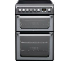 HOTPOINT Ultima HUE61GS 60 cm Electric Ceramic Cooker - Graphite Best Price, Cheapest Prices