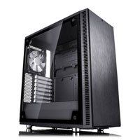Fractal Design Define C TG, Mid Tower Computer Chassis, with Tempered Glass Window, ATX/MicroATX/Mini-ITX, 2x 120mm Fans Best Price, Cheapest Prices