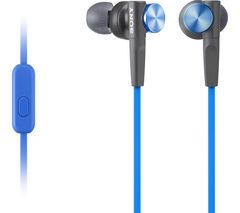 SONY MDR-XB50APL Headphones - Blue Best Price, Cheapest Prices