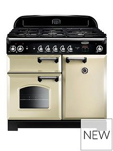 Rangemaster  CLA100DFFCR Classic 100cm Wide Dual Fuel Range Cooker - Cream Best Price, Cheapest Prices