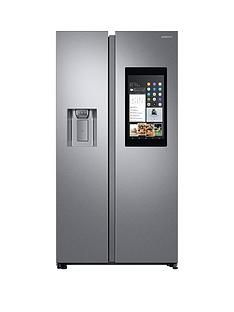 Samsung RS68N8941SL/EU Family Hub Style Frost Free Fridge Freezer with Plumbed Ice, Water Dispenser and 5 Year Samsung Parts and Labour Warranty -Aluminium Finish Best Price, Cheapest Prices