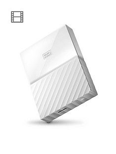 Western Digital My Passport 1TB Portable External Hard Drive - White Best Price, Cheapest Prices