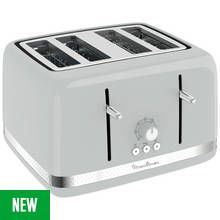 Moulinex LT305E41 4 Slice Toaster - Pepper Best Price, Cheapest Prices