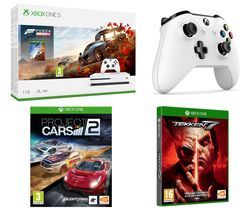 MICROSOFT Xbox One S, Forza Horizon 4, Tekken 7, Project Cars 2 & Wireless Controller Bundle Best Price, Cheapest Prices