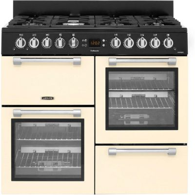 Leisure Cookmaster CK100G232C 100cm Gas Range Cooker - Cream - A+/A Rated Best Price, Cheapest Prices