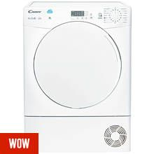 Candy CSC8LF 8KG Condenser Tumble Dryer - White Best Price, Cheapest Prices
