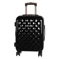 IT Luggage 8 Wheel Expandable Suitcase - Black & Rose Gold