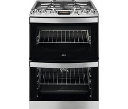 AEG CKB6540ACM 60 cm Dual Fuel Cooker – Stainless Steel Best Price, Cheapest Prices