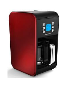 Morphy Richards Pour Over Filter Coffee Maker - Red Best Price, Cheapest Prices