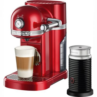 Nespresso By KitchenAid Artisan With Aeroccino3 5KES0504BER - Red Best Price, Cheapest Prices