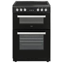 Bush BLC60DBL 60cm Double Oven Electric Cooker - Black Best Price, Cheapest Prices