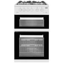 Beko KDG582W Twin Gas Cooker - White Best Price, Cheapest Prices