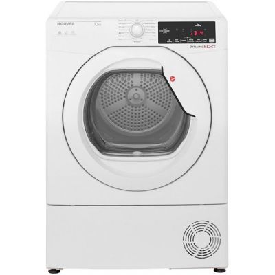 Hoover Dynamic Next DXC10TG 10Kg Condenser Tumble Dryer - White - B Rated Best Price, Cheapest Prices