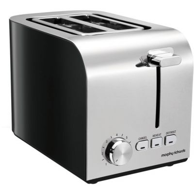 Morphy Richards Equip 222054 2 Slice Toaster - Black Best Price, Cheapest Prices