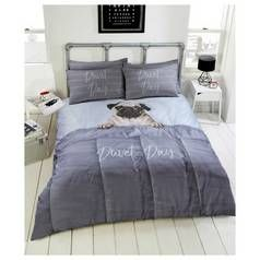 Argos Home Daytime Pug Bedding Set - Double Best Price, Cheapest Prices