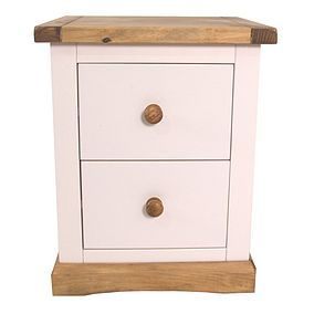 Colby 2 Drawer Wide Bedside Best Price, Cheapest Prices