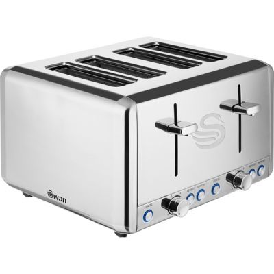 Swan Classic ST14064N 4 Slice Toaster - Polished Stainless Steel Best Price, Cheapest Prices