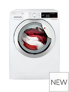 Hoover Dynamic Next DXOA48C3 8kg Load, 1400 Spin Washing Machine with One Touch - White/Chrome Best Price, Cheapest Prices