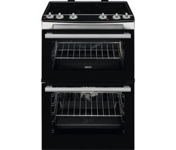 ZANUSSI ZCV66060XE 60 cm Electric Ceramic Cooker - Stainless Steel Best Price, Cheapest Prices