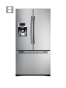 Samsung RFG23UERS1/XEU French Door Side By Side Fridge Freezer with Twin Cooling - Silver Best Price, Cheapest Prices