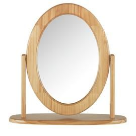Argos Home Oval Dressing Table Mirror - Oak Effect Best Price, Cheapest Prices