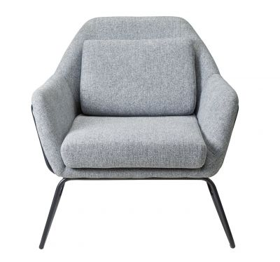 Argos Home Juliette Fabric Accent Chair - Light Grey Best Price, Cheapest Prices