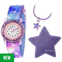 Tikkers Purple Glitter Space Time Teacher Watch Set Best Price, Cheapest Prices