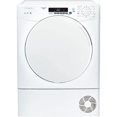 Candy Smart CSC8DF 8Kg Condenser Tumble Dryer - White - B Rated Best Price, Cheapest Prices