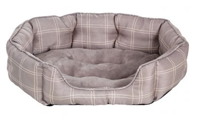 Country Check Oval Pet Bed - Medium Best Price, Cheapest Prices