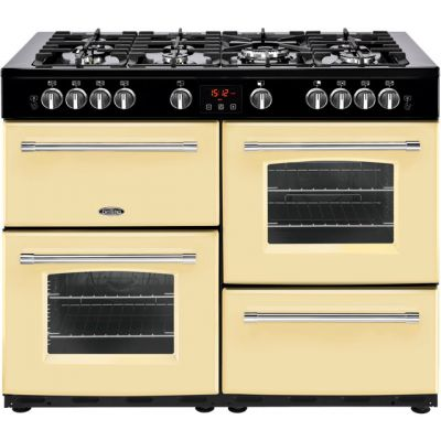 Belling Farmhouse110GT 110cm Gas Range Cooker - Cream - A/A Rated Best Price, Cheapest Prices