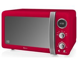 SWAN SM22030RN Solo Microwave - Red Best Price, Cheapest Prices