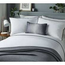 Serene Pom Pom Grey Bedding Set - Superking Best Price, Cheapest Prices