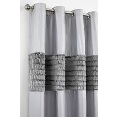 Catherine Lansfield Corded Velvet Curtains 168x229cm - Grey