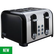 Russell Hobbs 22407 Worcester 4 Slice Toaster - Black Best Price, Cheapest Prices