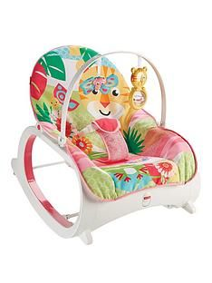 Fisher-Price Rainforest Infant To Toddler Rocker - Pink Best Price, Cheapest Prices